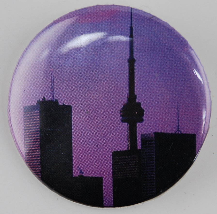 toronto pin, toronto pin-back button