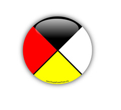 Native button, First Nations button, Aboriginal button, medicine wheel