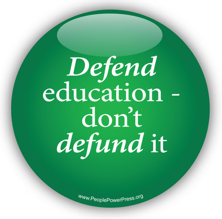 education button, pin-back button