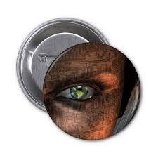 eye button, eye pin-back button