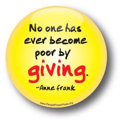 Anne Frank button, quote button