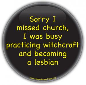 atheism button, lesbian button, anti-religion button, atheist, agnostic
